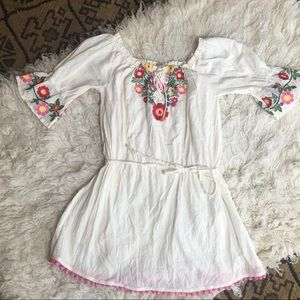 UMGEE floral embroidered mini dress